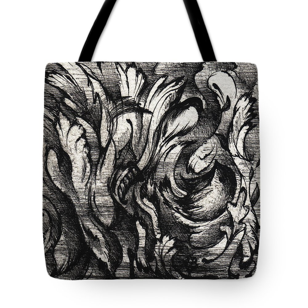 Sparrow Tote Bag featuring the drawing Death Of A Sparrow by Rachel Christine Nowicki