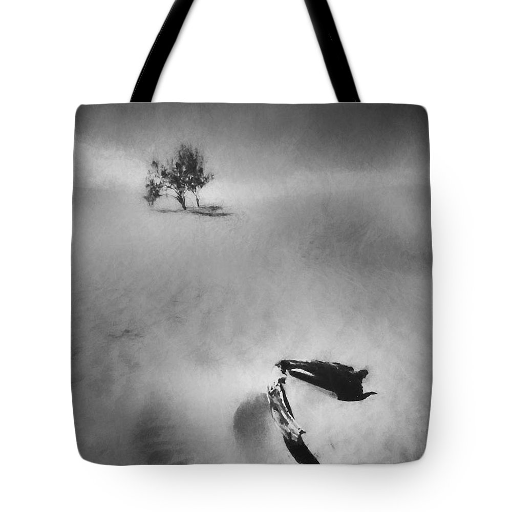 Black And White Tote Bag featuring the photograph Death Valley 1990 by Scott Norris