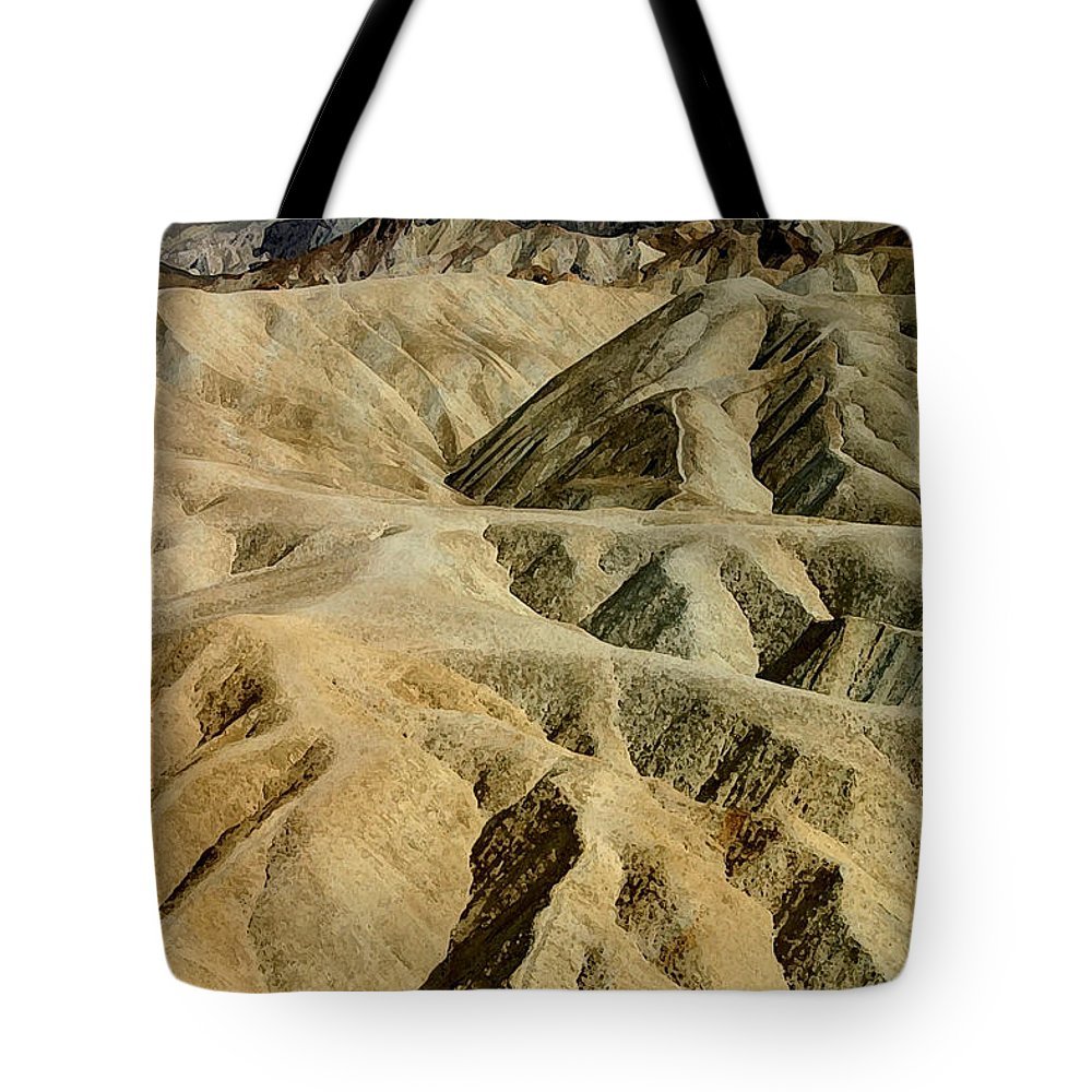 Desert Tote Bag featuring the photograph Death Valley Waves by Mary Haber