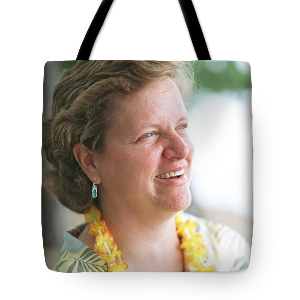 Portrait Tote Bag featuring the photograph deb by John Graziani