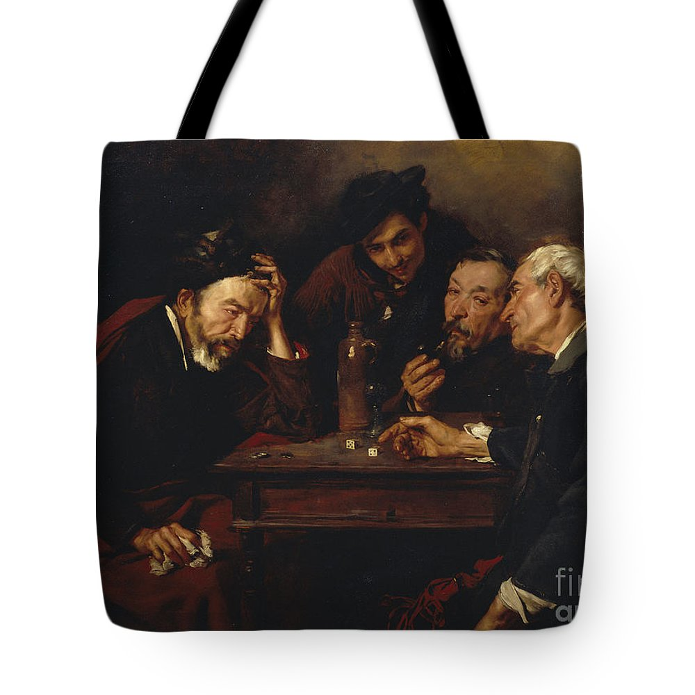 Gomez Polo Tote Bag featuring the painting Debate by MotionAge Designs