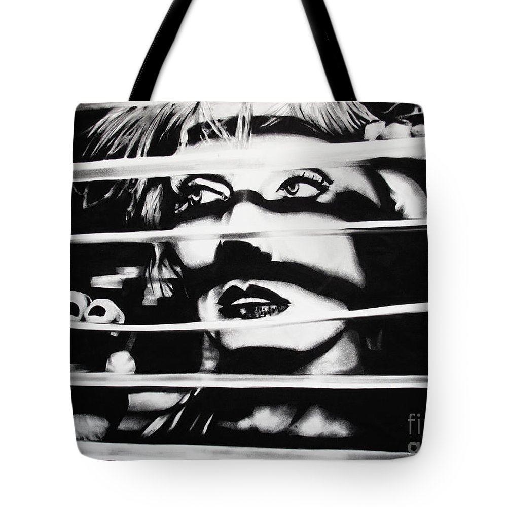 Brian Curran Tote Bag featuring the drawing Deborah Harry by Brian Curran