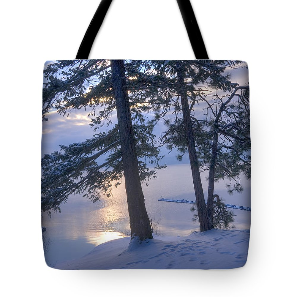 Tree Tote Bag featuring the photograph December Dawn by Idaho Scenic Images Linda Lantzy