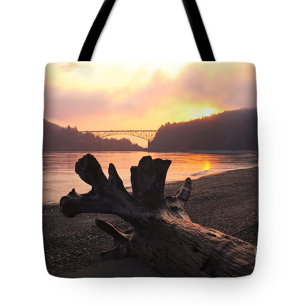 National Park Tote Bag featuring the photograph Deception Dawn by Idaho Scenic Images Linda Lantzy