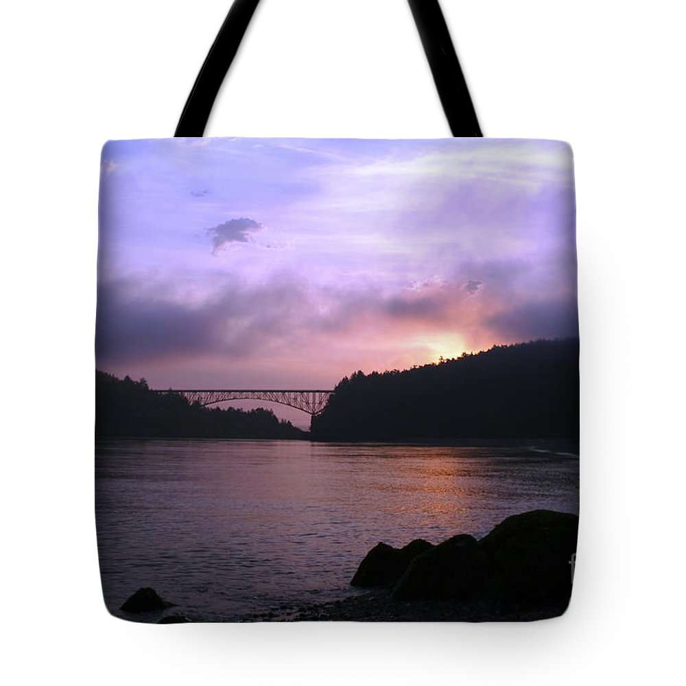 Sunrise Tote Bag featuring the photograph Deception Pass Sunrise by Idaho Scenic Images Linda Lantzy