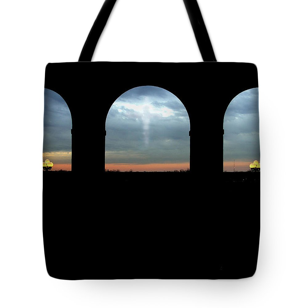 Arch Tote Bag featuring the photograph Decisions by Albert Stewart