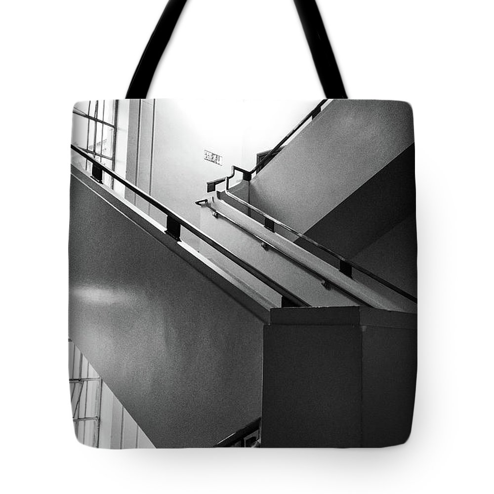 Staircase Tote Bag featuring the photograph Deco Stairs by Philip Openshaw