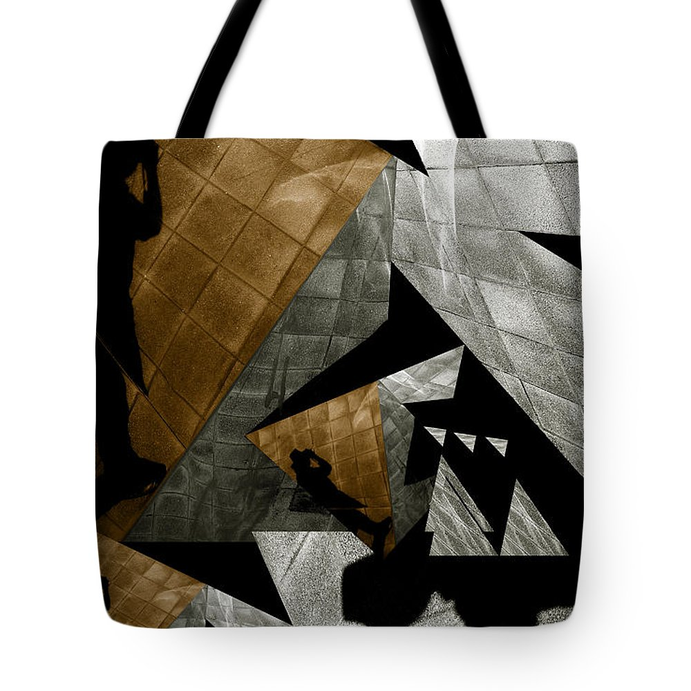 Abstract Tote Bag featuring the photograph Deconstruction by Wayne Sherriff