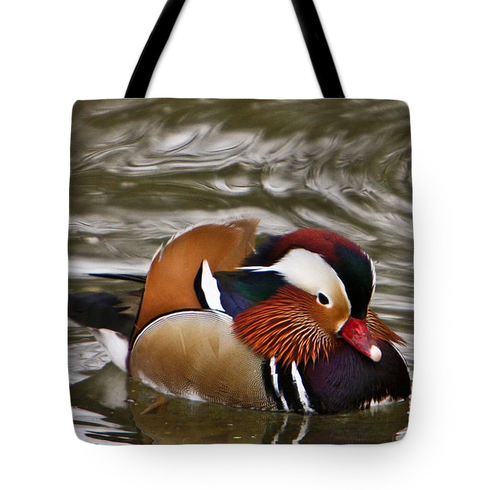 Duck Tote Bag featuring the photograph Decorated Duck by Douglas Barnett
