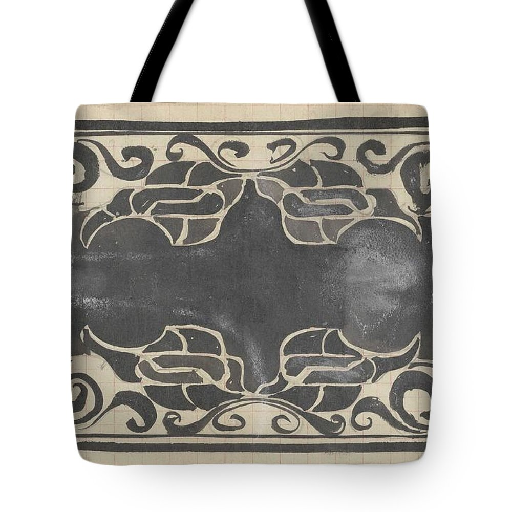 Pattern Tote Bag featuring the painting Decorative Design, Carel Adolph Lion Cachet, 1874 - 1945 Rq by Carel Adolph Lion Cachet