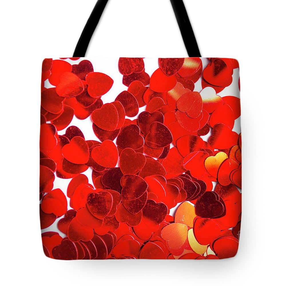 Confetti Tote Bag featuring the photograph Decorative Heart Background by Jorgo Photography - Wall Art Gallery