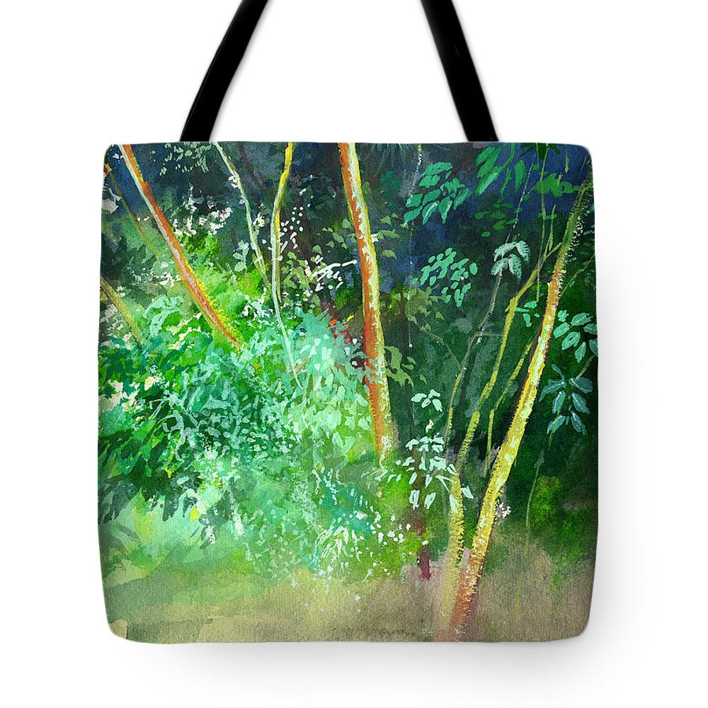 Water Color Tote Bag featuring the painting Deep by Anil Nene