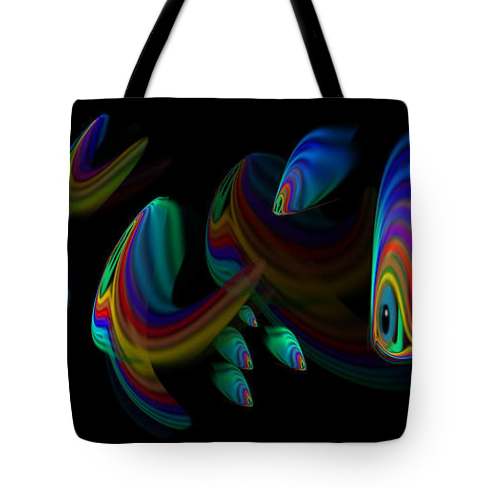 Tropical Fish Tote Bag featuring the painting Deep Blue 2 by Charles Stuart