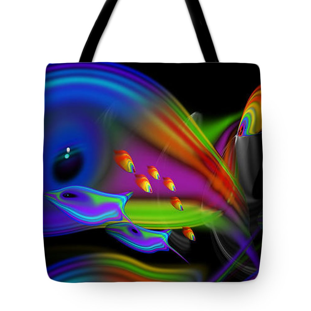 Tropical Fish Tote Bag featuring the painting Deep Blue Marine Life by Charles Stuart