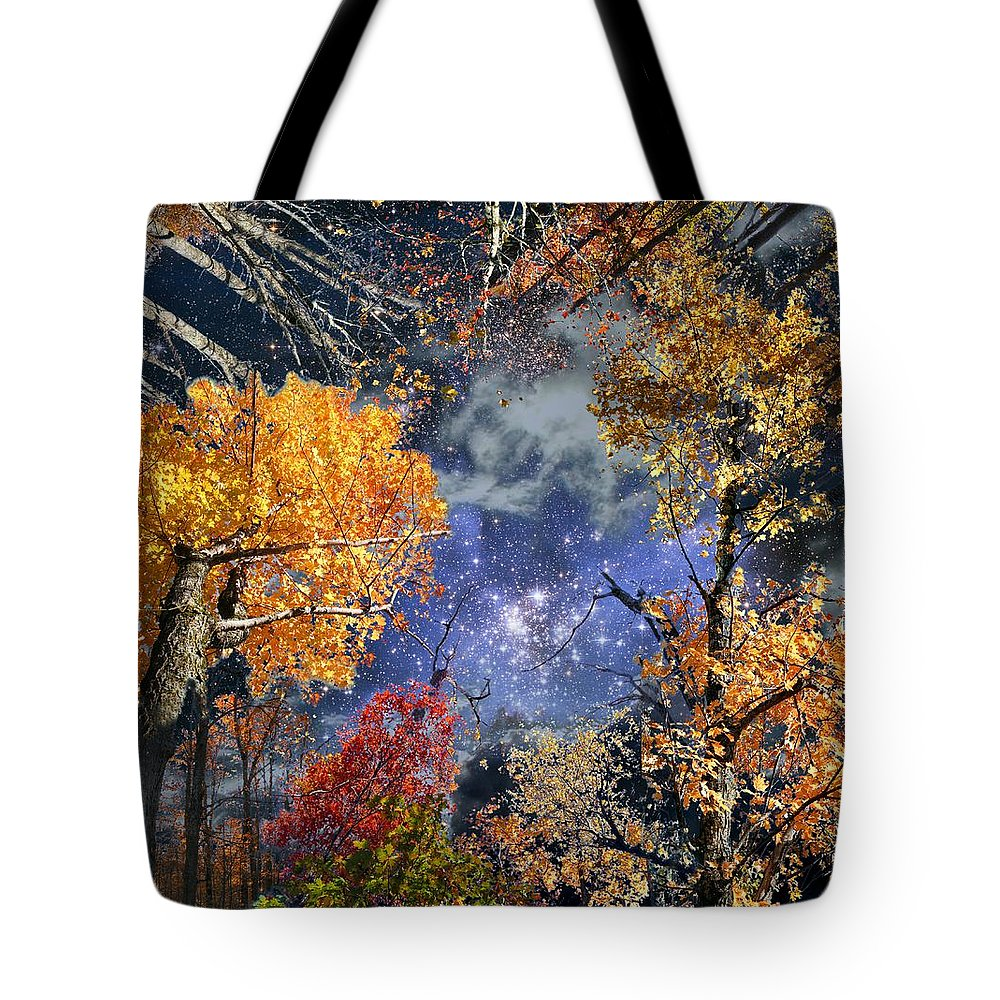 Deep Space Tote Bag featuring the photograph Deep Canopy by Dave Martsolf