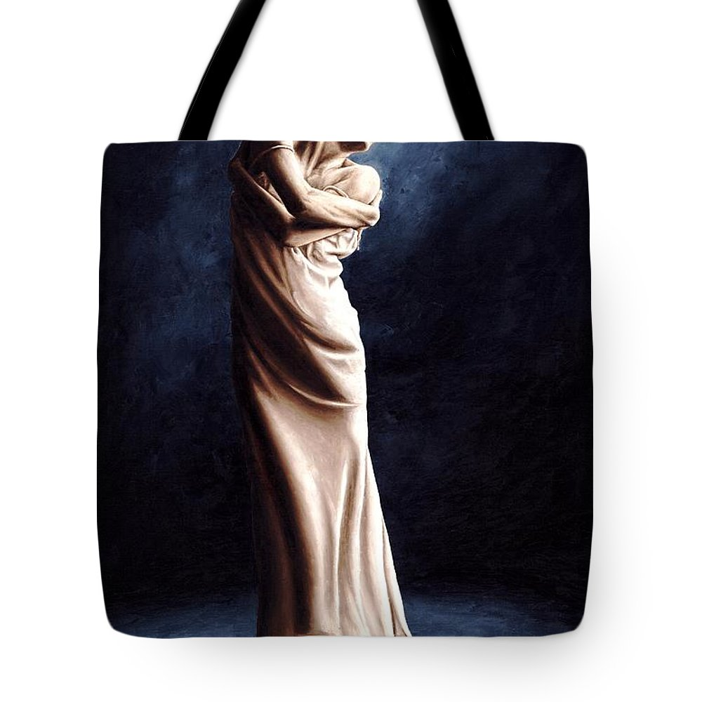 Dancer Tote Bag featuring the painting Deep Consideration by Richard Young