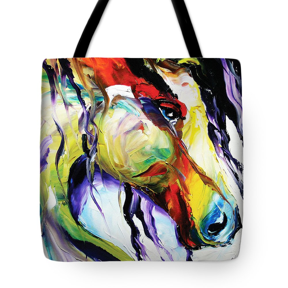 Horse Paintings Tote Bag featuring the painting Deep Memories by Laurie Pace