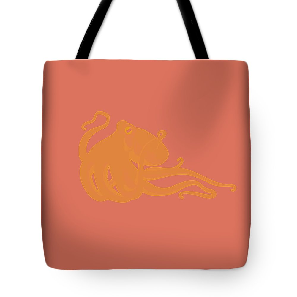Octopus Tote Bag featuring the painting Deep Ocean Animals - Octopus 24 by Celestial Images