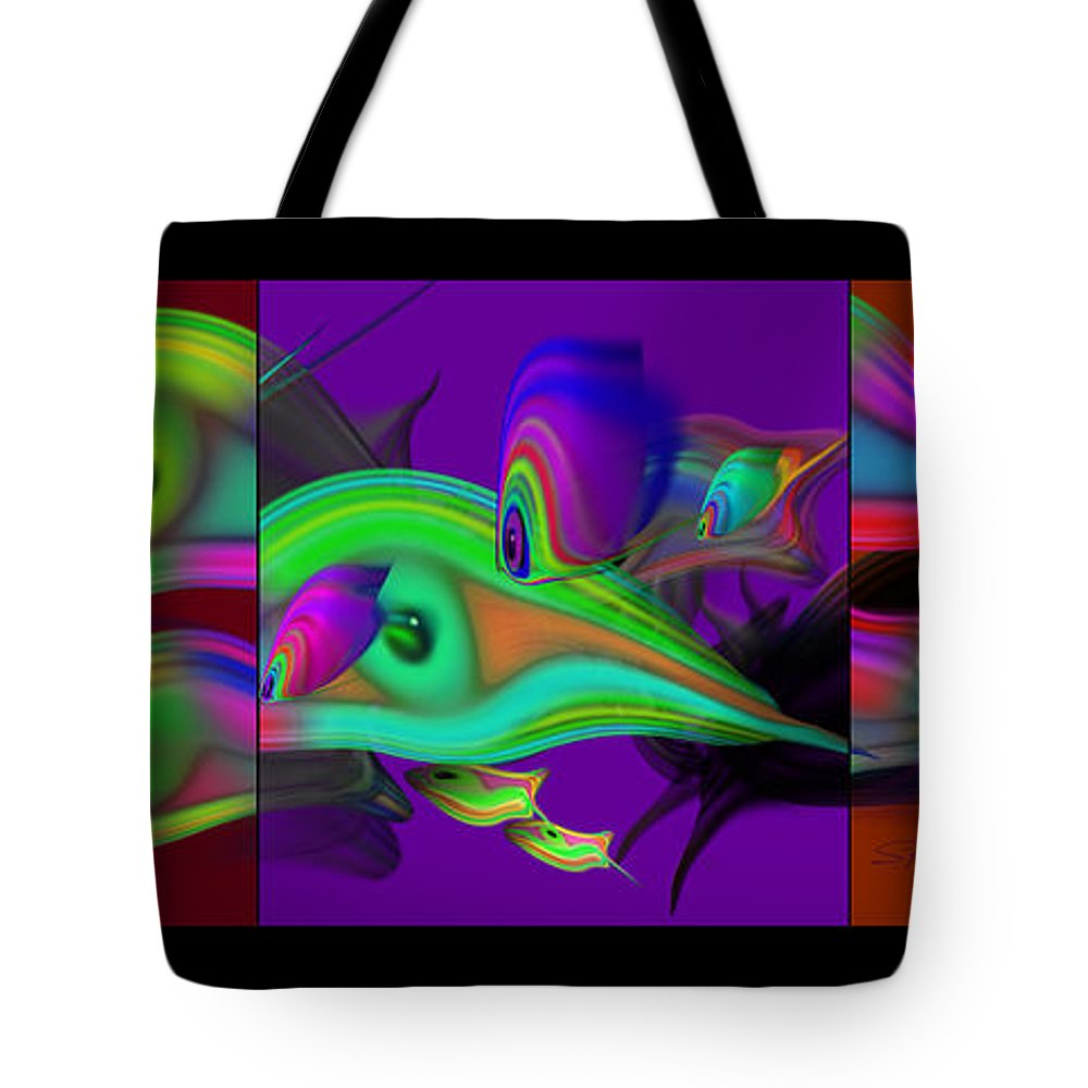 Edo Tote Bag featuring the painting Deep Purple by Charles Stuart