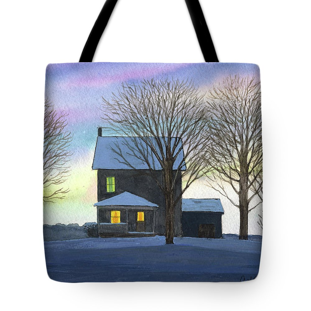 Winter Tote Bag featuring the painting Deep Snow 2003 by Arthur Barnes