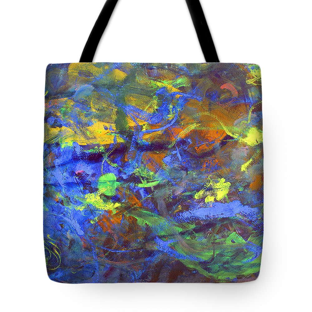 Abstract Tote Bag featuring the painting Deep Space Abstract Art by Lee Serenethos