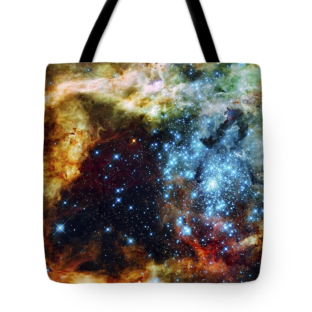 Nebula Tote Bag featuring the photograph Deep Space Fire And Ice 2 by Jennifer Rondinelli Reilly - Fine Art Photography