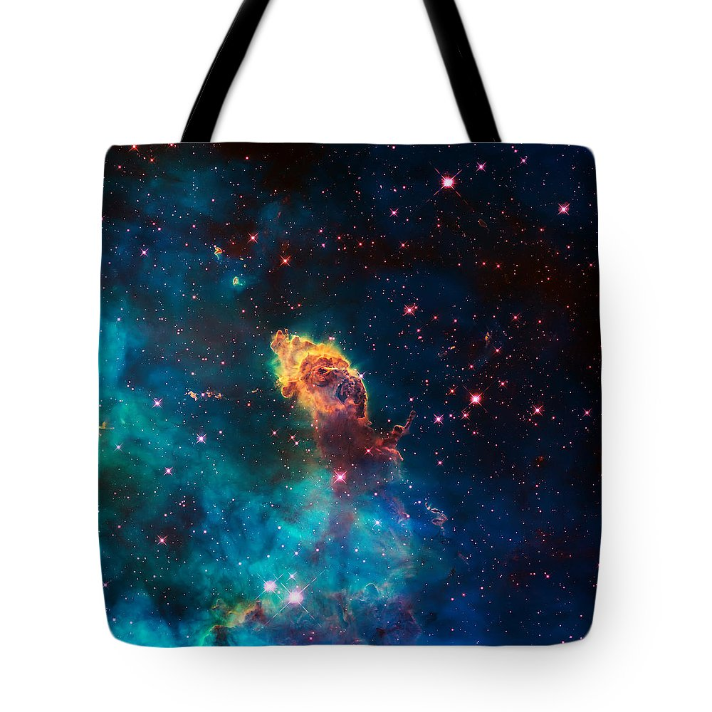 Nebula Tote Bag featuring the photograph Deep Space Smoke by Jennifer Rondinelli Reilly - Fine Art Photography