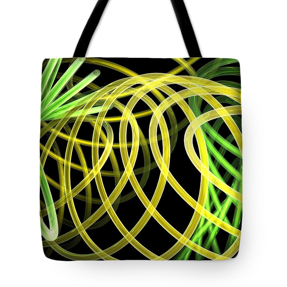 Green Tote Bag featuring the digital art Deep Trance by Scott Piers