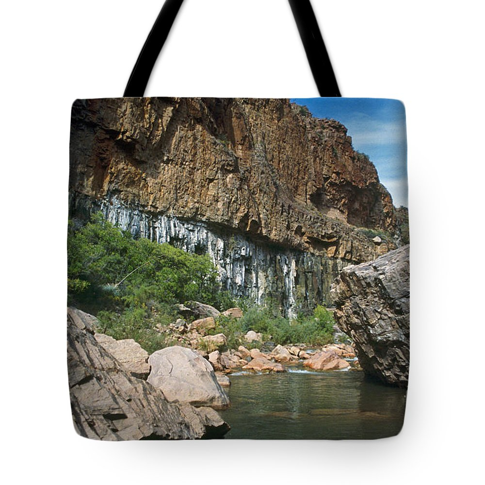 Landscape Tote Bag featuring the photograph Deep Water by Kathy McClure