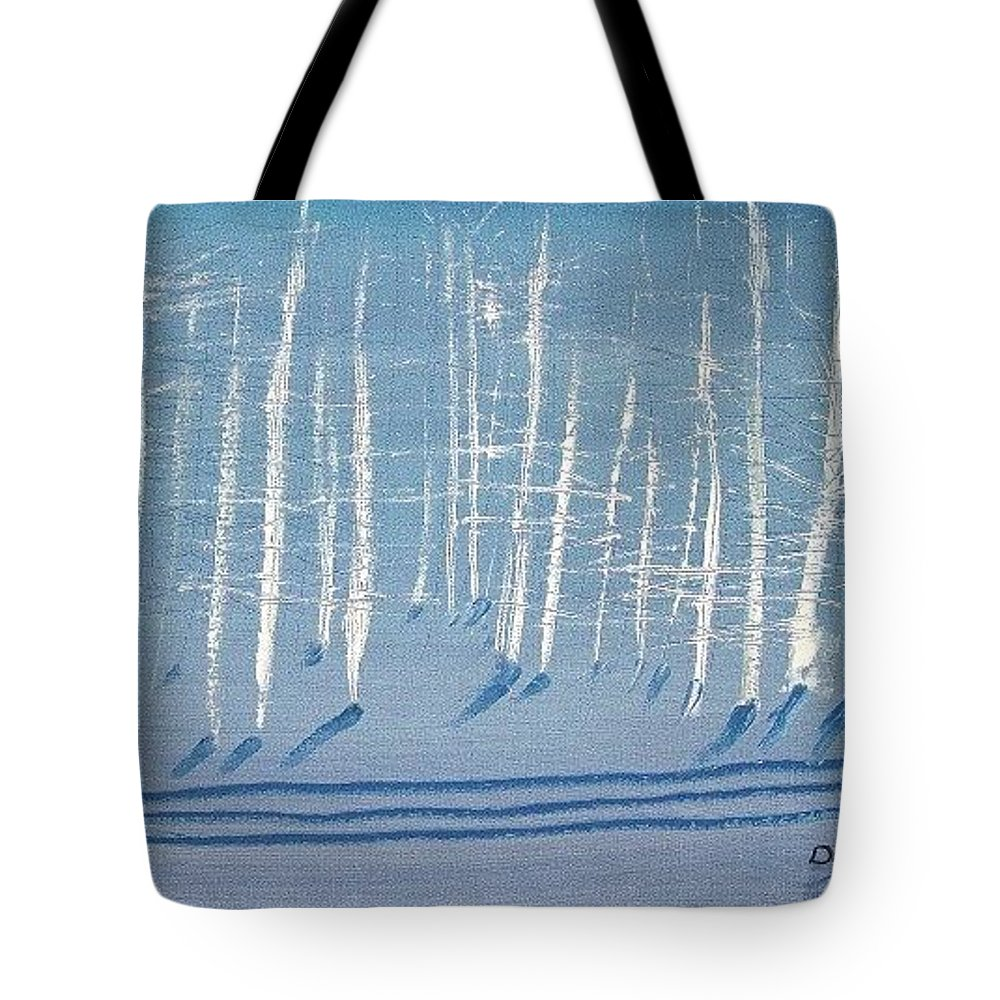 White Tote Bag featuring the painting Deep Winter by Jack Diamond