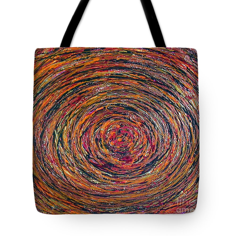 Deep Tote Bag featuring the painting Deep Within by Dawn Hough Sebaugh