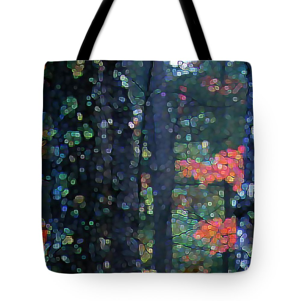 Landscape Tote Bag featuring the digital art Deep Woods Mystery by Dave Martsolf