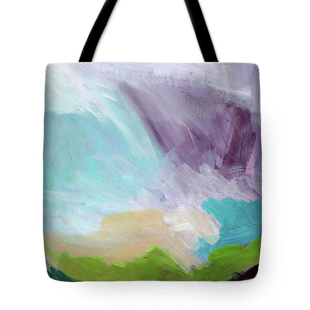 Abstract Tote Bag featuring the painting Deepest Breath- Abstract Art by Linda Woods by Linda Woods