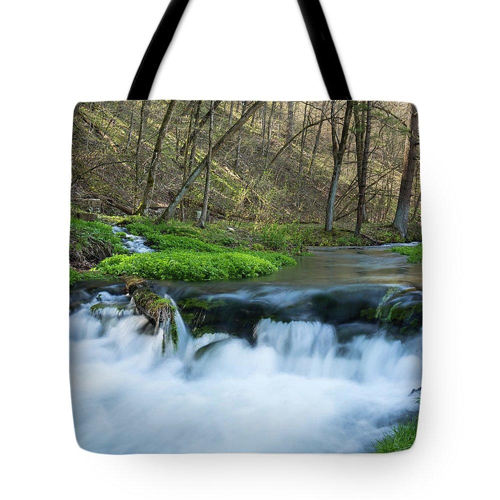 River Tote Bag featuring the photograph Deer Creek Ia 6 by John Brueske