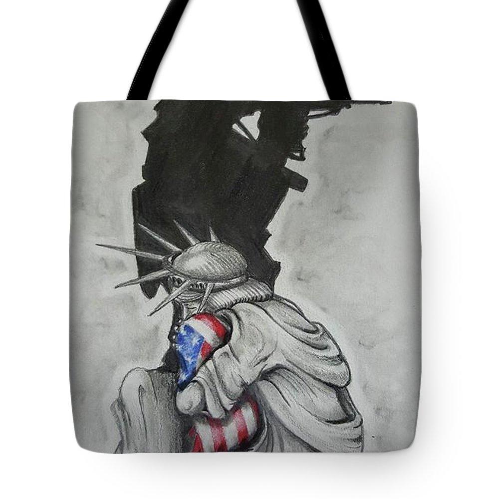 Soldier Drawings Tote Bags