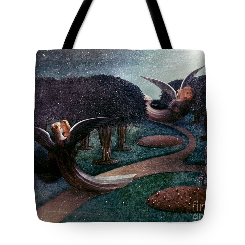 1894 Tote Bag featuring the photograph Degouve: Angels, 1894 by Granger