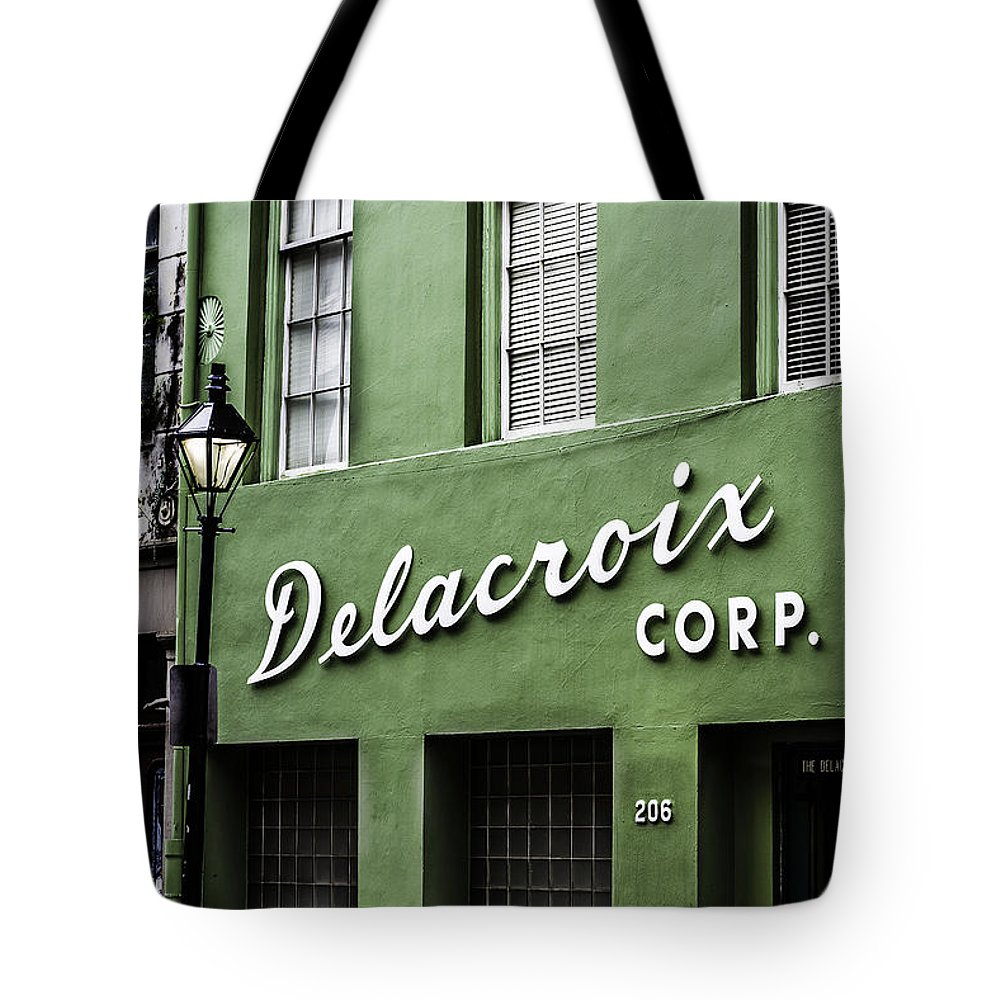 Delacroix Corp. Tote Bag featuring the photograph Delacroix Corp., New Orleans, Louisiana by Chris Coffee