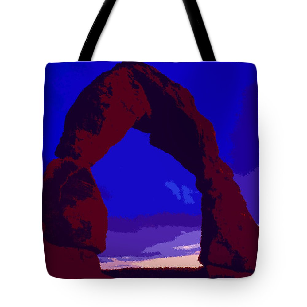 Delicate Arch Tote Bag featuring the painting Delicate Arch by David Lee Thompson