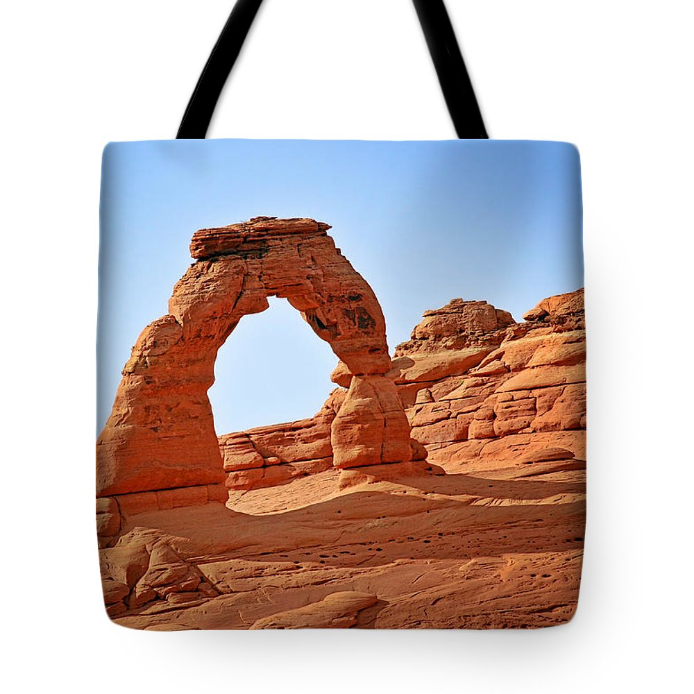 Landscape Tote Bag featuring the photograph Delicate Arch The Arches National Park Utah by Christine Till