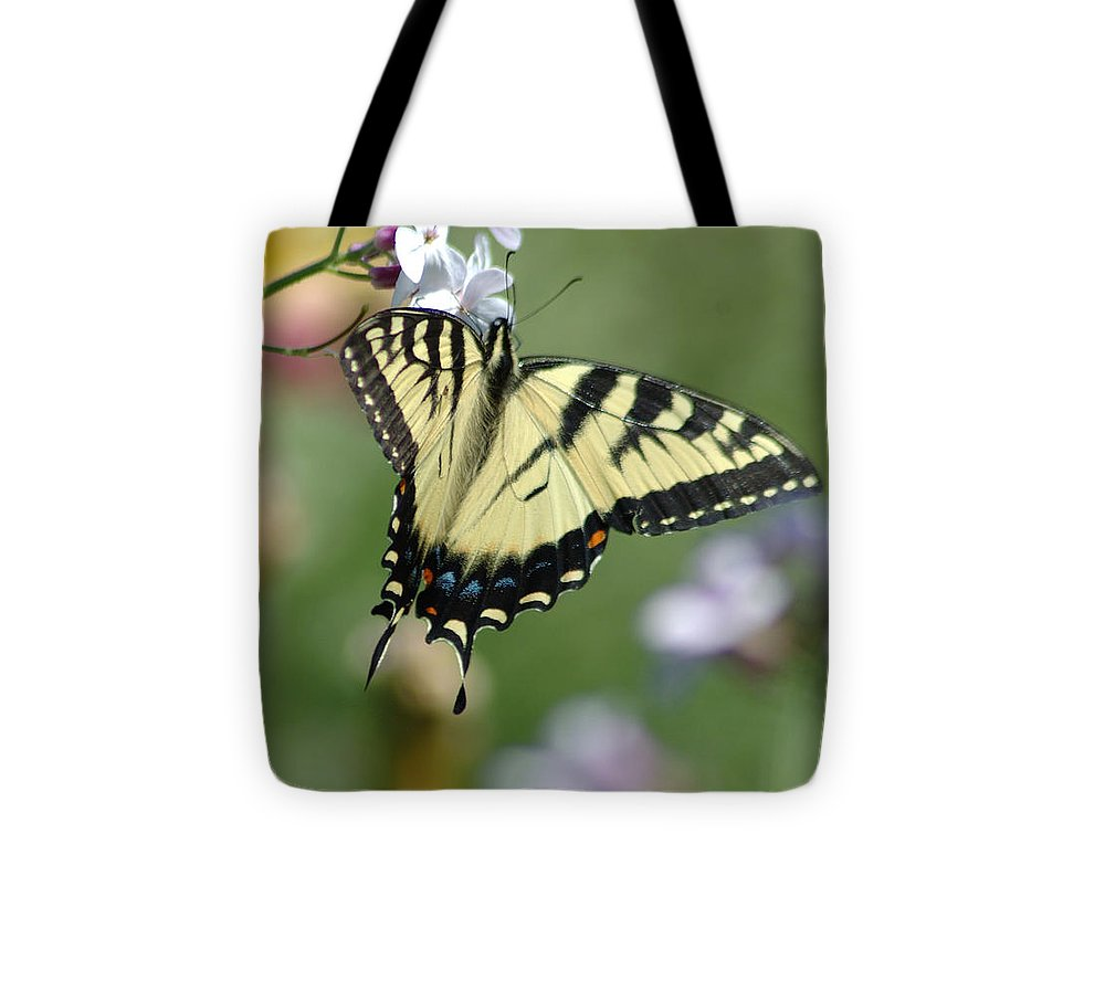 Butterfly Tote Bag featuring the photograph Delicate Balance by Linda Murphy