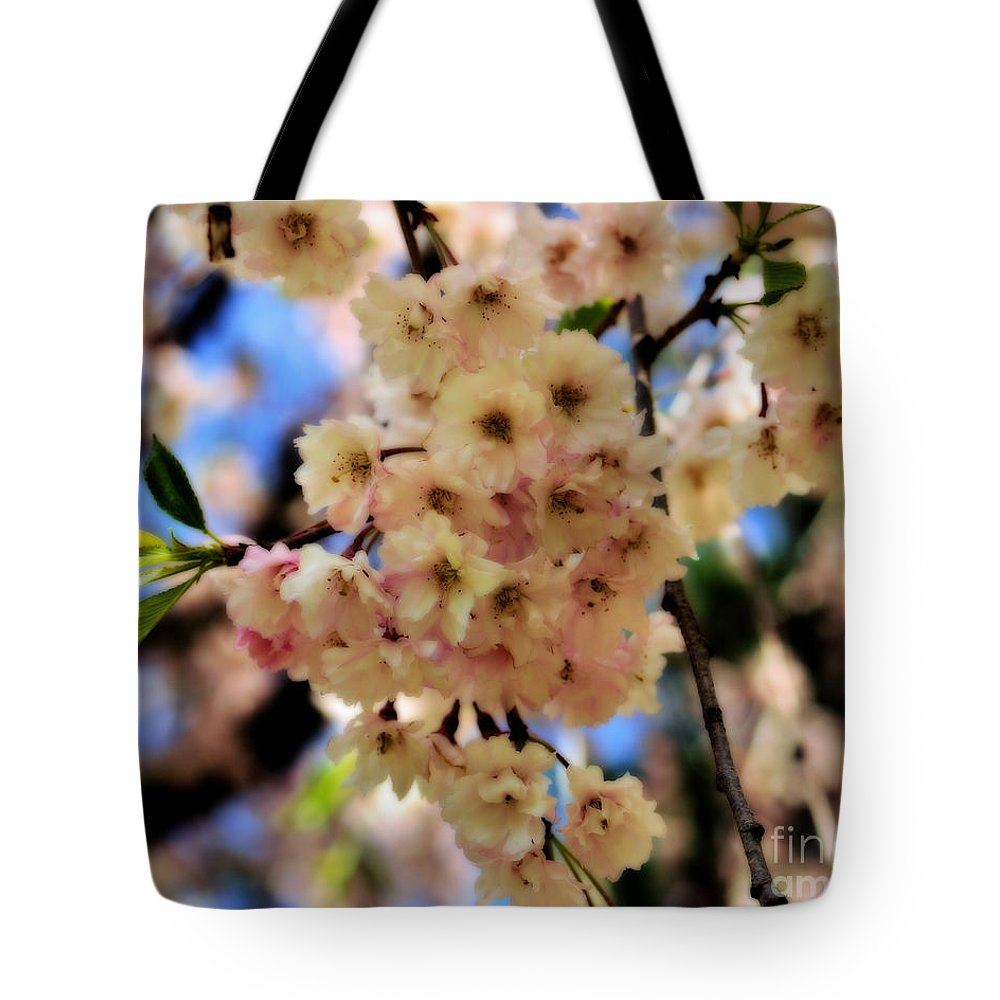 Flower Tote Bag featuring the photograph Delicate Blossoms by Smilin Eyes Treasures