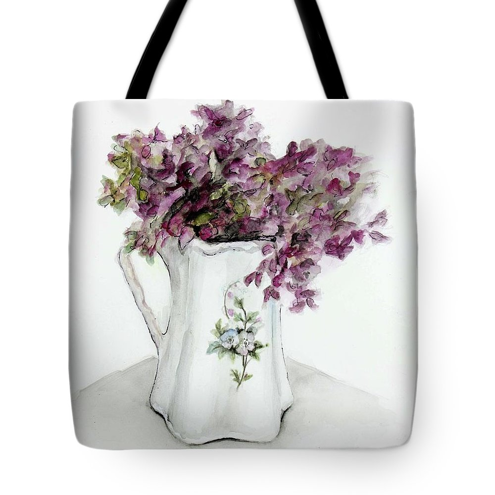 Bouquet Tote Bag featuring the painting Delicate Bouquet by Carly Autumn