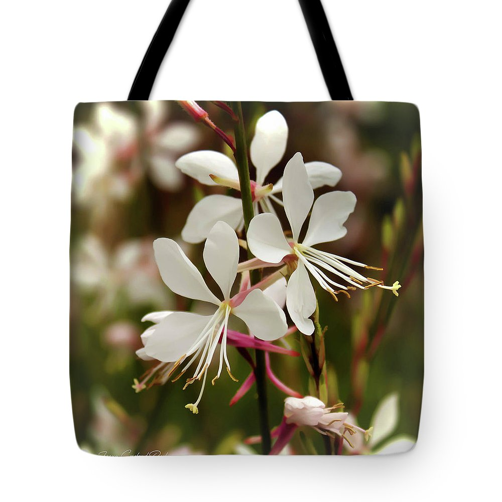 Nature Tote Bag featuring the photograph Delicate Gaura Flowers by Joann Copeland-Paul