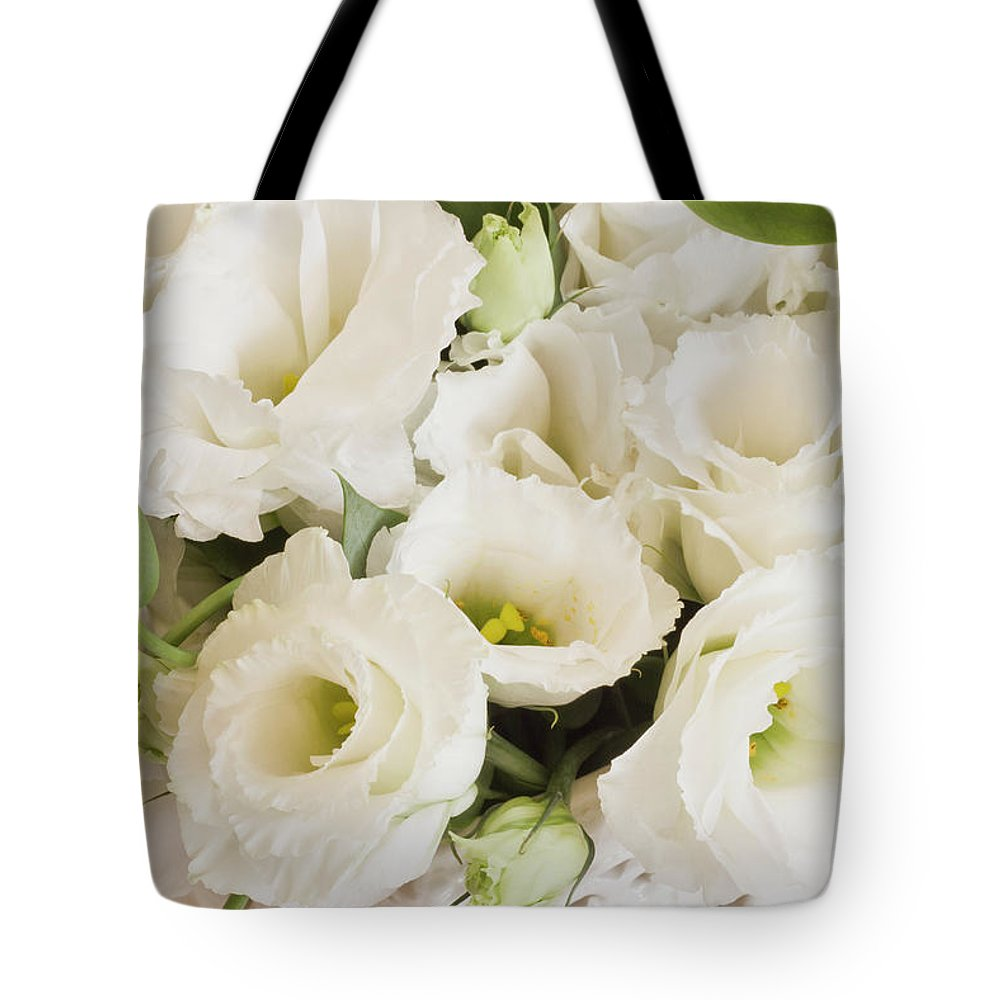 Delicate White Lisianthus Flowers Tote Bag For Sale By Sandra Foster