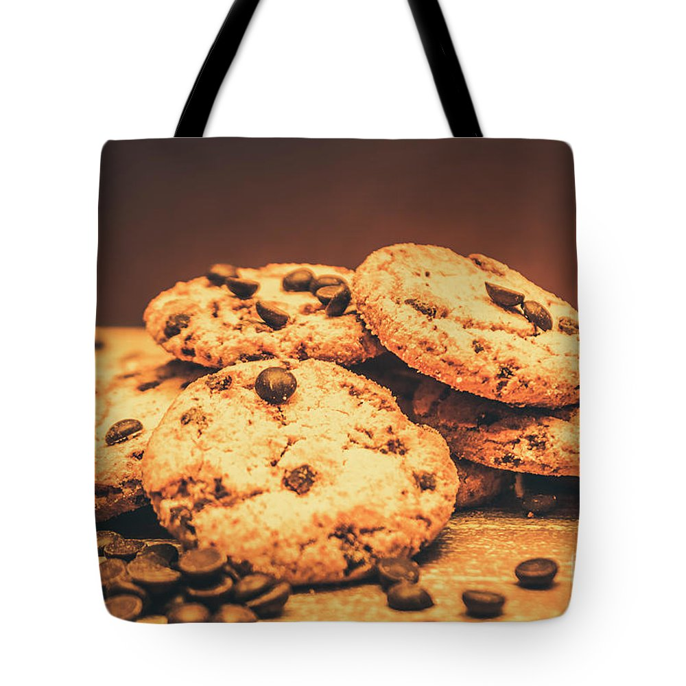 Food Tote Bag featuring the photograph Delicious Sweet Baked Biscuits by Jorgo Photography - Wall Art Gallery
