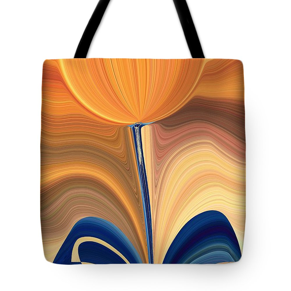 Bloom Tote Bag featuring the digital art Delighted by Tim Allen