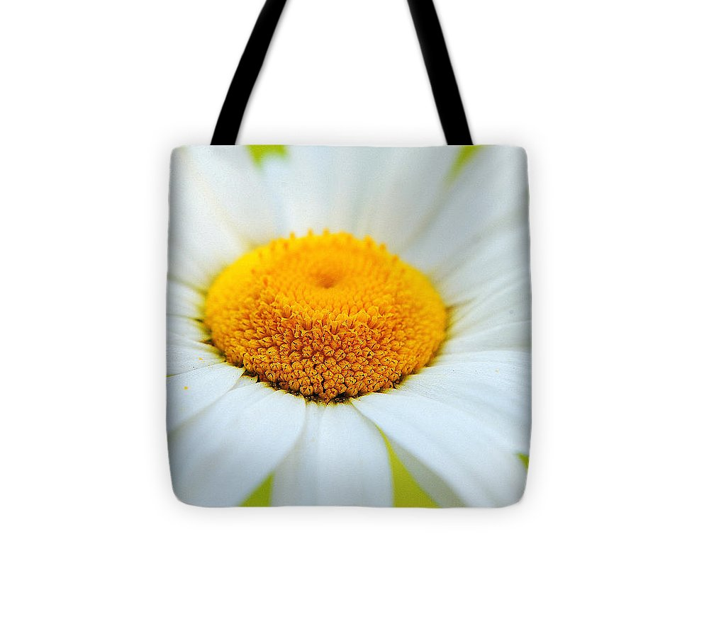 Daisy Tote Bag featuring the photograph Delightful Daisy by Frozen in Time Fine Art Photography