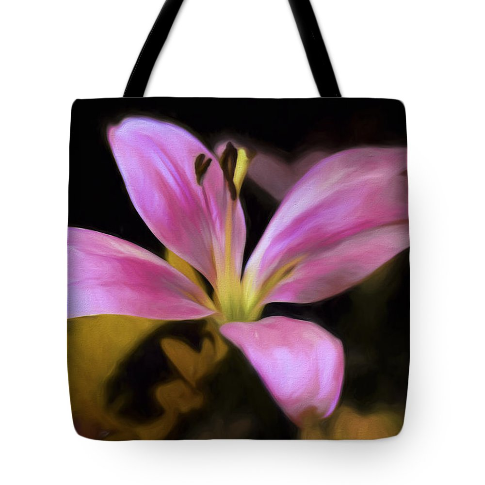 Flower Tote Bag featuring the photograph Delightful Daylily by Sharon M Connolly