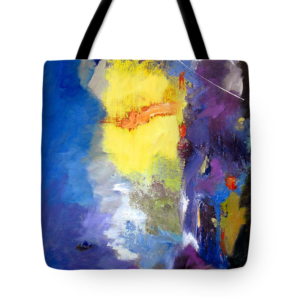 Abstract Tote Bag featuring the painting Delightful Inheritance by Ruth Palmer