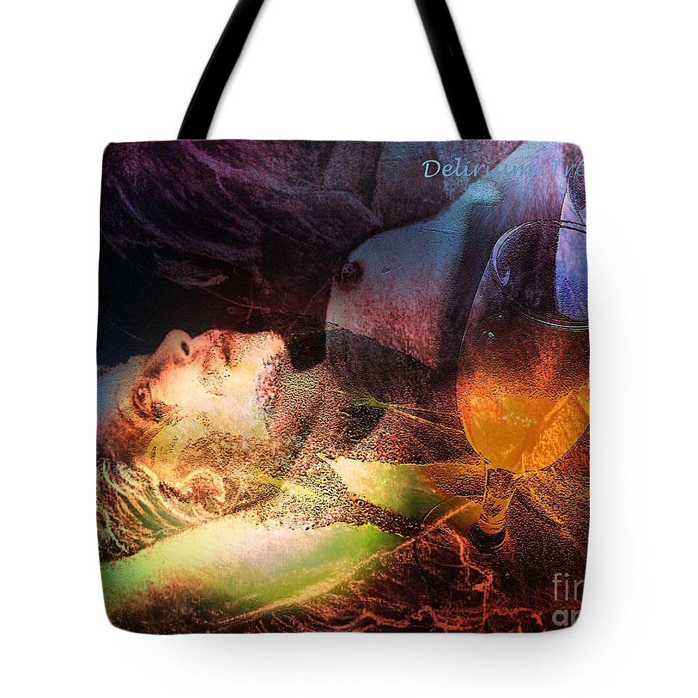 Fantasy Tote Bag featuring the painting Delirium Tremens by Miki De Goodaboom